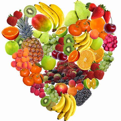 Várias frutas formato coração, benefícios da manga para a saúde