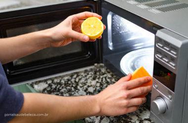 Como limpar o micro-ondas