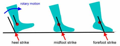 padrões de pisada na corrida, ideal com parte da frente do pé
